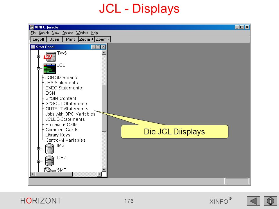 JCL - Displays Die JCL Diisplays