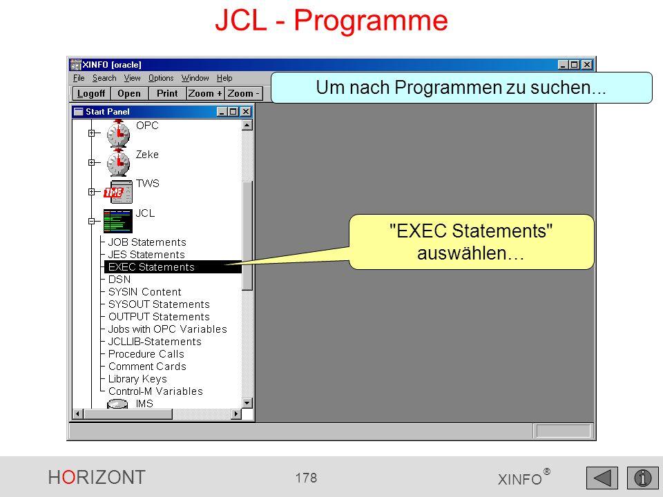 JCL - Programme Um nach Programmen zu suchen...
