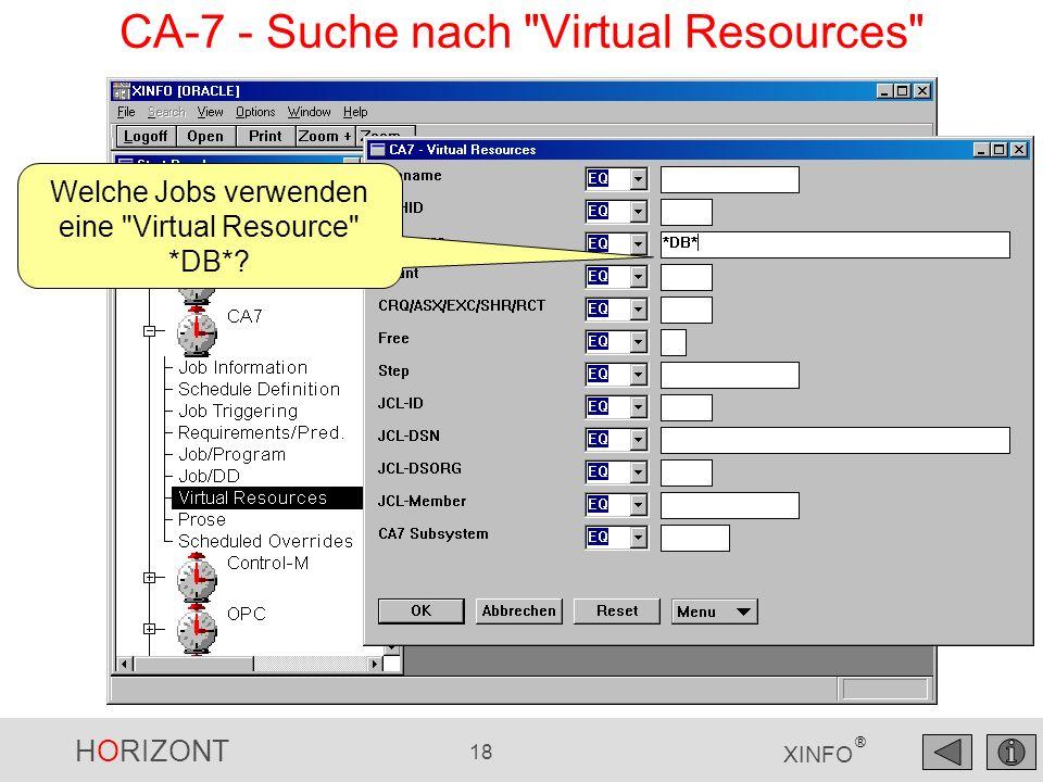 CA-7 - Suche nach Virtual Resources