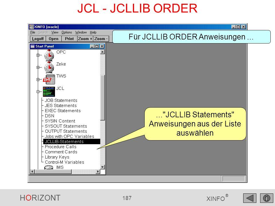 JCL - JCLLIB ORDER Für JCLLIB ORDER Anweisungen ...