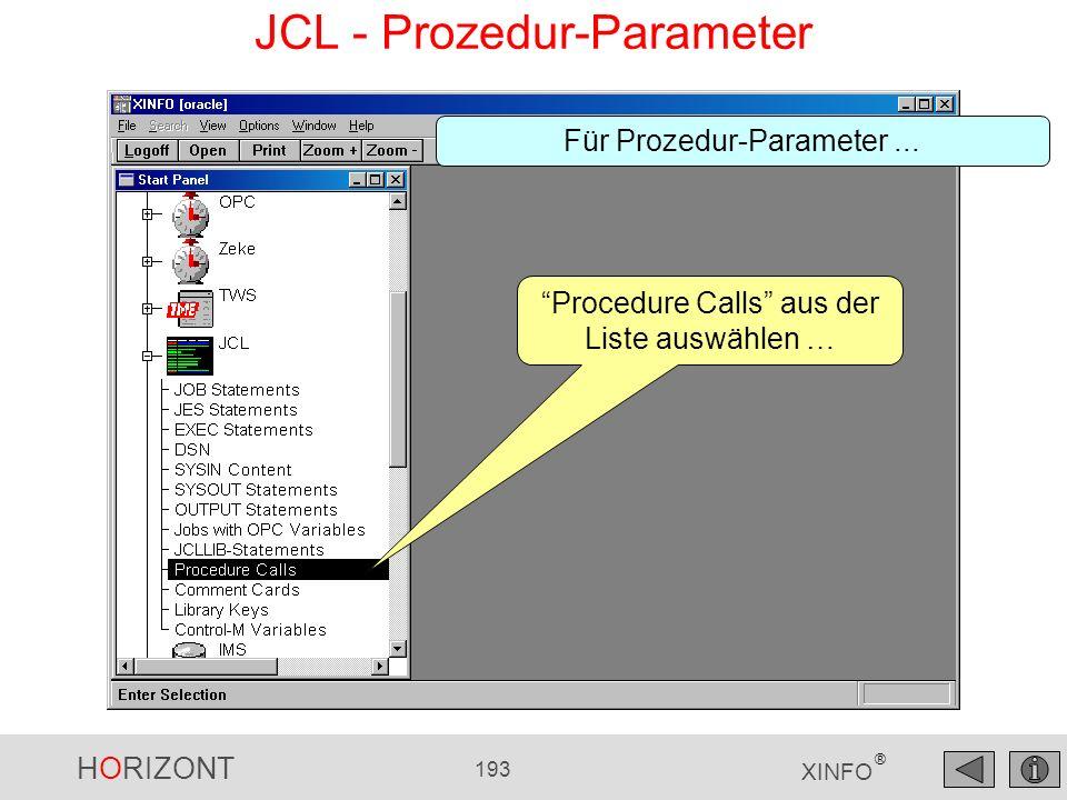 JCL - Prozedur-Parameter