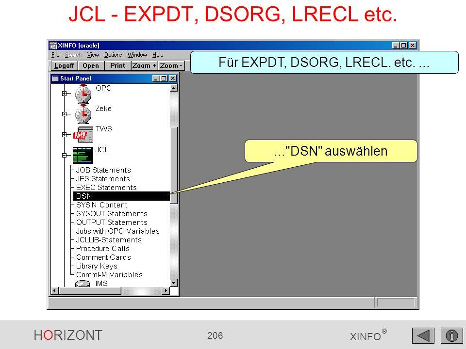 JCL - EXPDT, DSORG, LRECL etc.