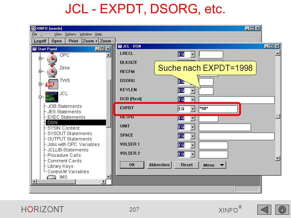 JCL - EXPDT, DSORG, etc. Suche nach EXPDT=1998