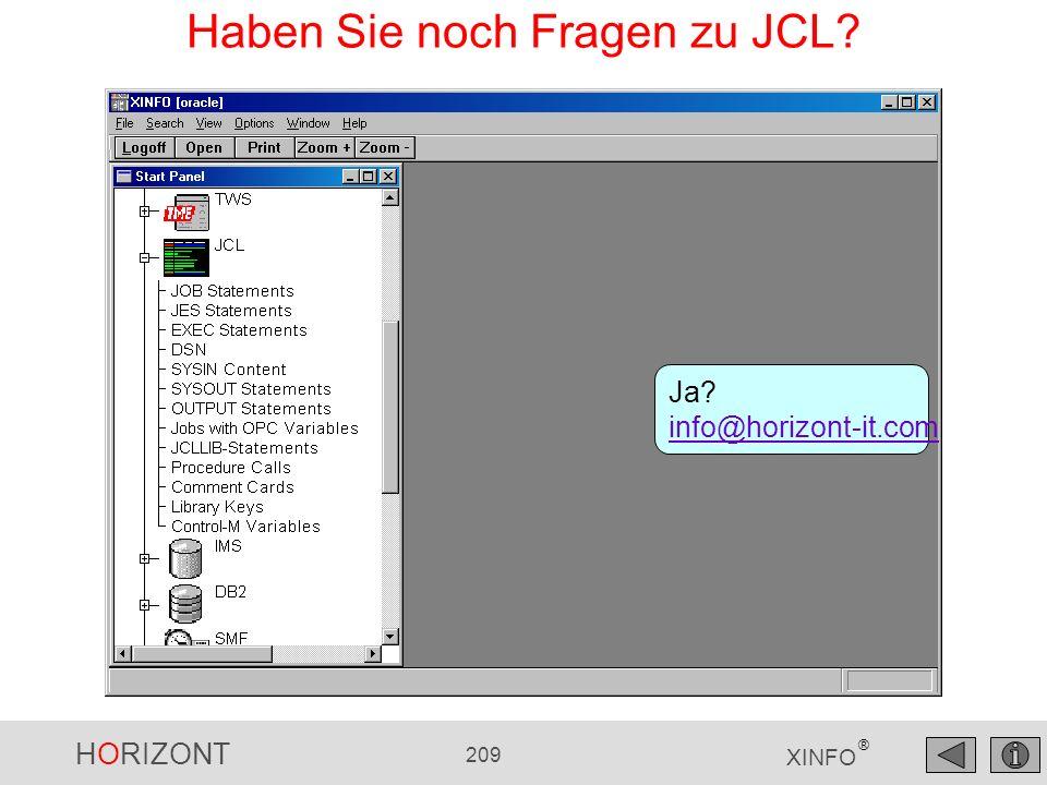 Haben Sie noch Fragen zu JCL
