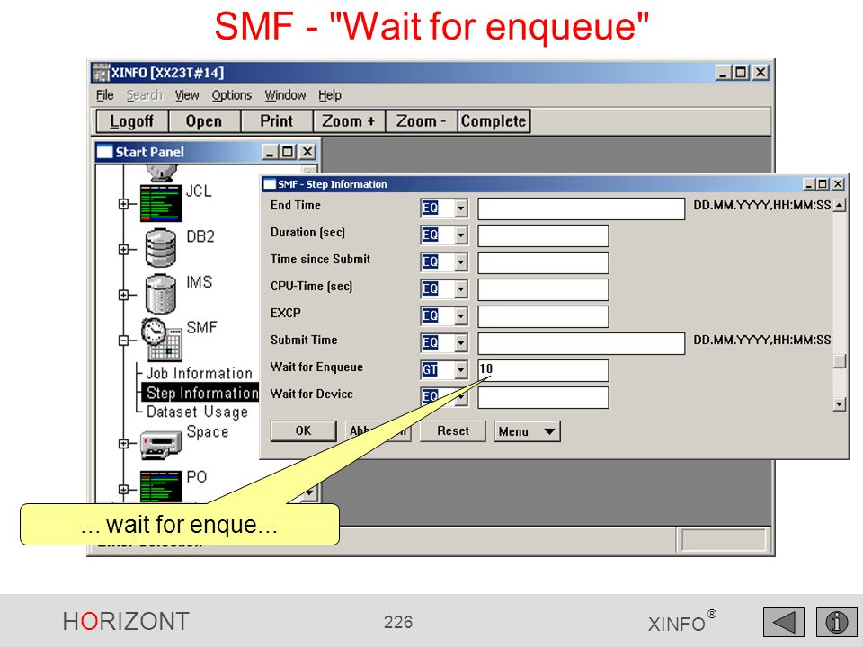 SMF - Wait for enqueue ... wait for enque...