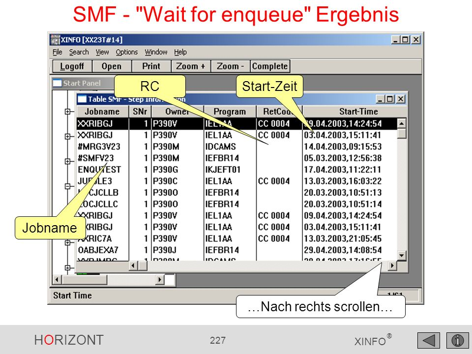 SMF - Wait for enqueue Ergebnis