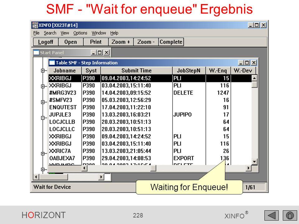 SMF - Wait for enqueue Ergebnis