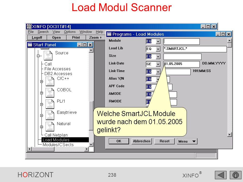 Load Modul Scanner Welche SmartJCL Module wurde nach dem 01.05.2005 gelinkt