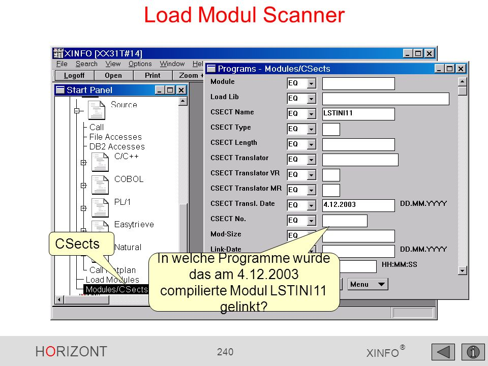 Load Modul Scanner CSects
