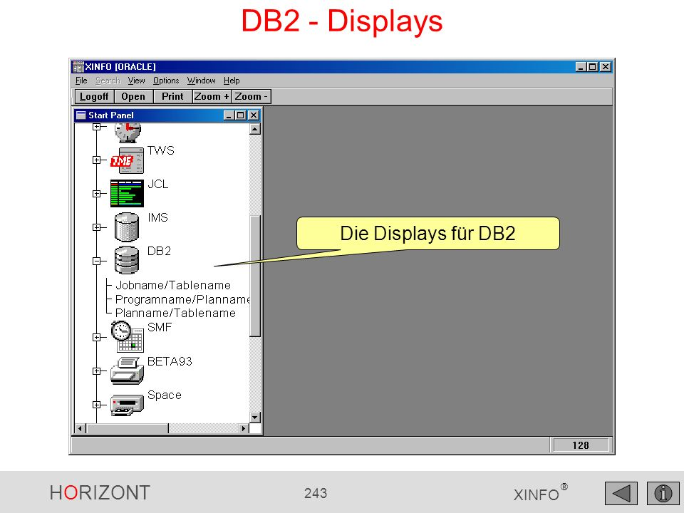 DB2 - Displays Die Displays für DB2