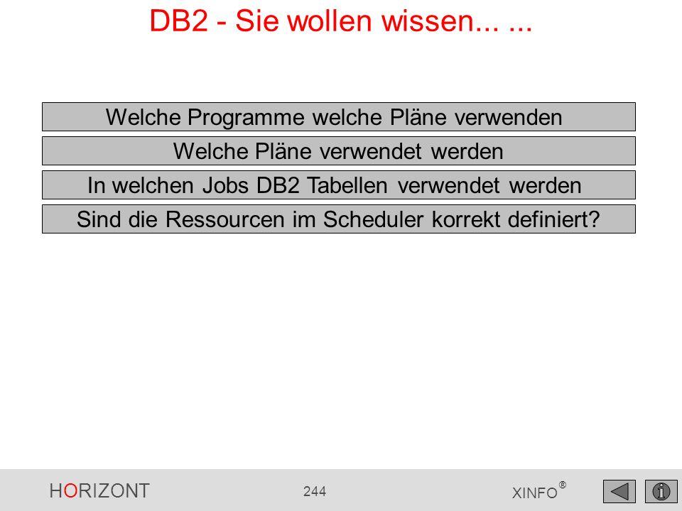 DB2 - Sie wollen wissen... ... Welche Programme welche Pläne verwenden