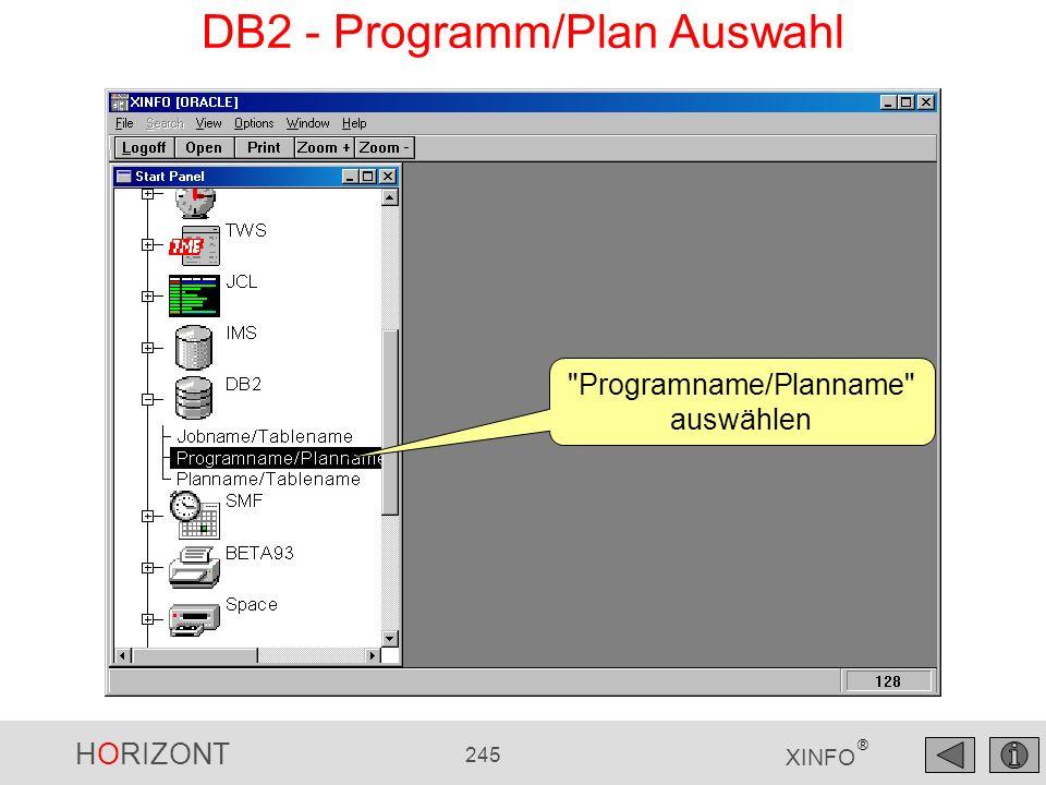 DB2 - Programm/Plan Auswahl