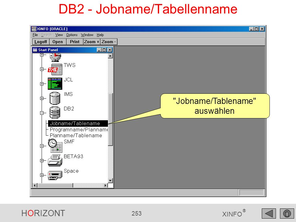 DB2 - Jobname/Tabellenname