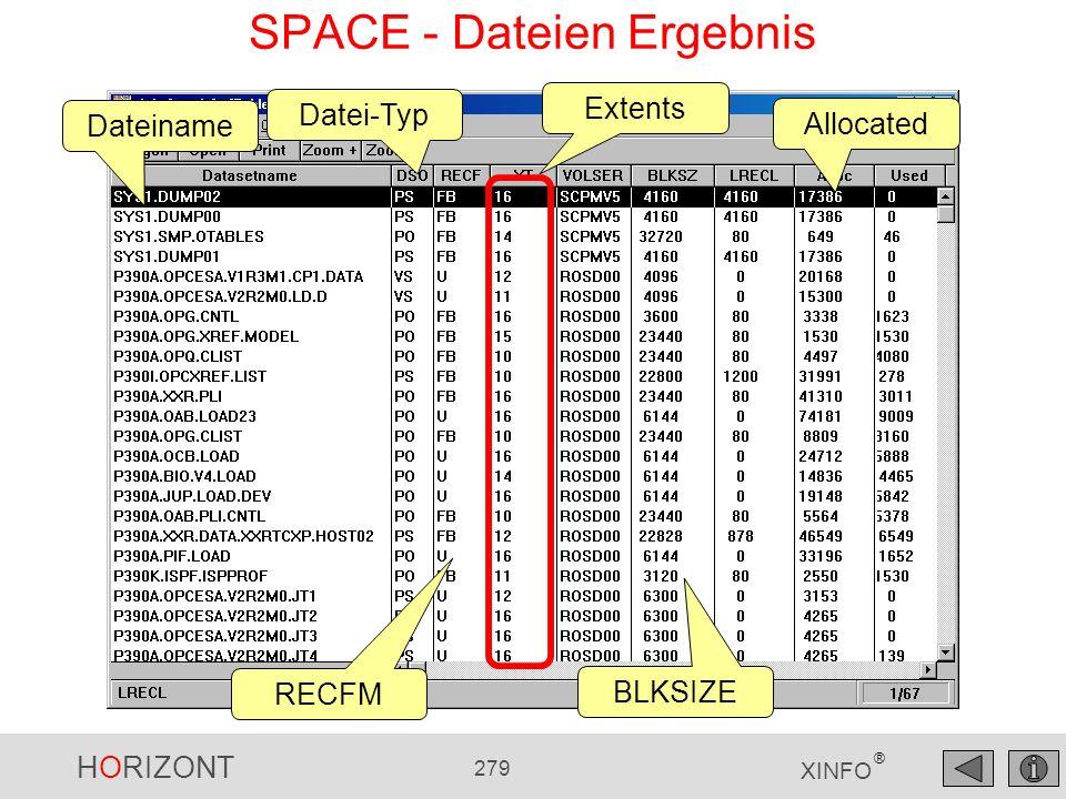 SPACE - Dateien Ergebnis