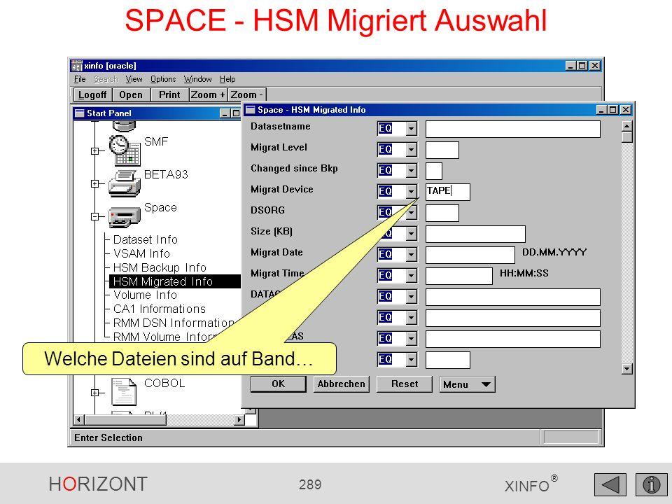 SPACE - HSM Migriert Auswahl