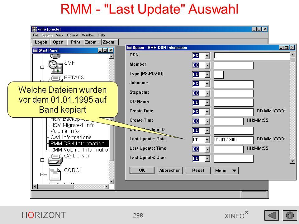 RMM - Last Update Auswahl