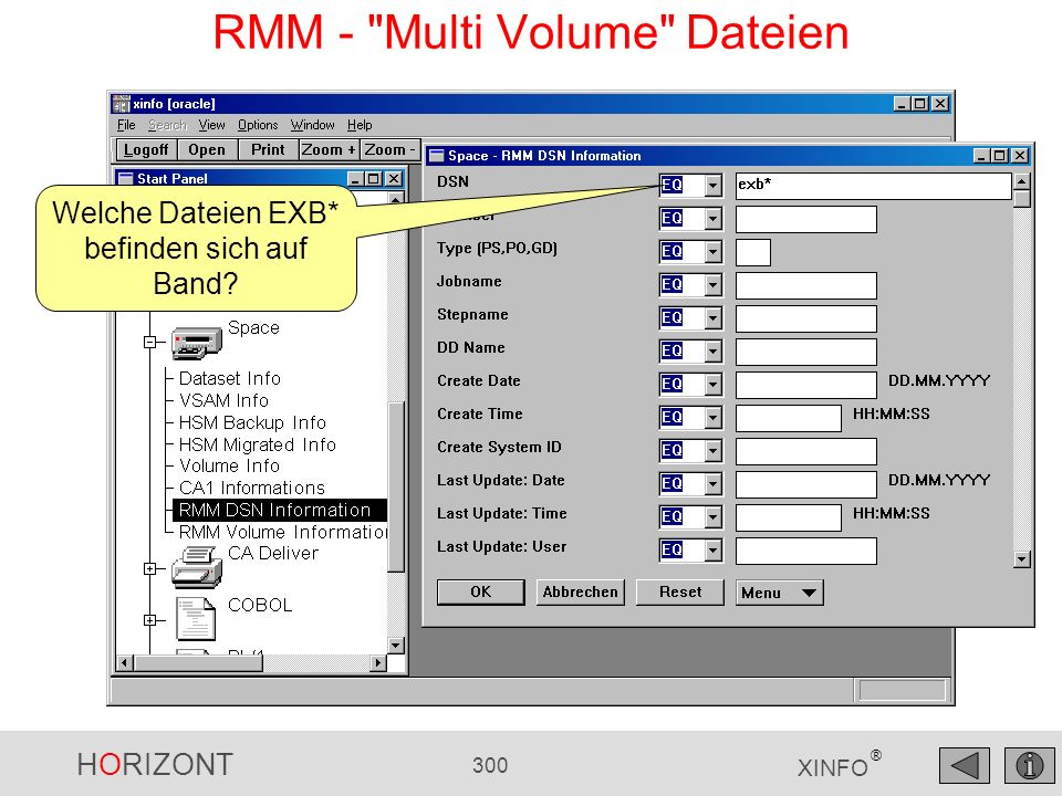 RMM - Multi Volume Dateien