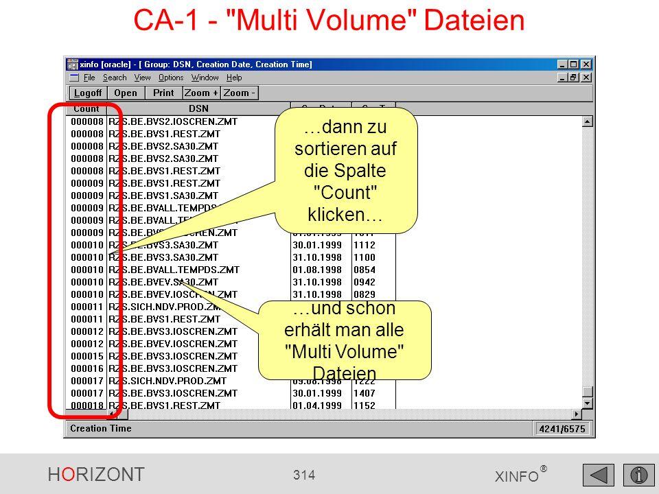 CA-1 - Multi Volume Dateien