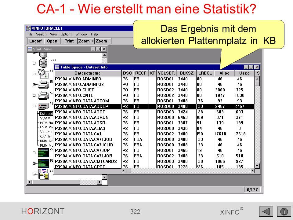 CA-1 - Wie erstellt man eine Statistik