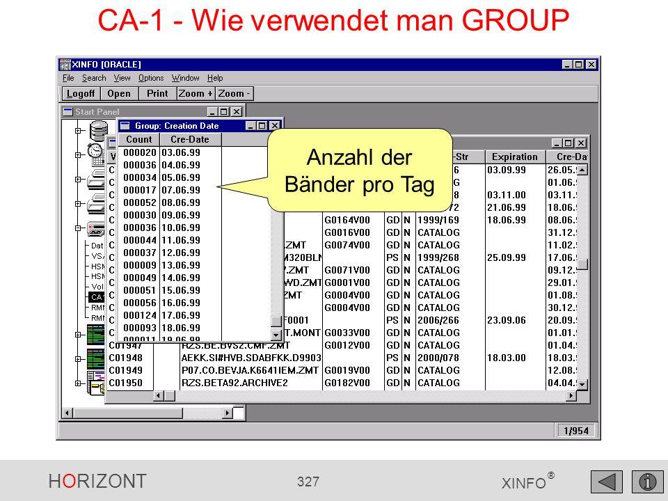 CA-1 - Wie verwendet man GROUP