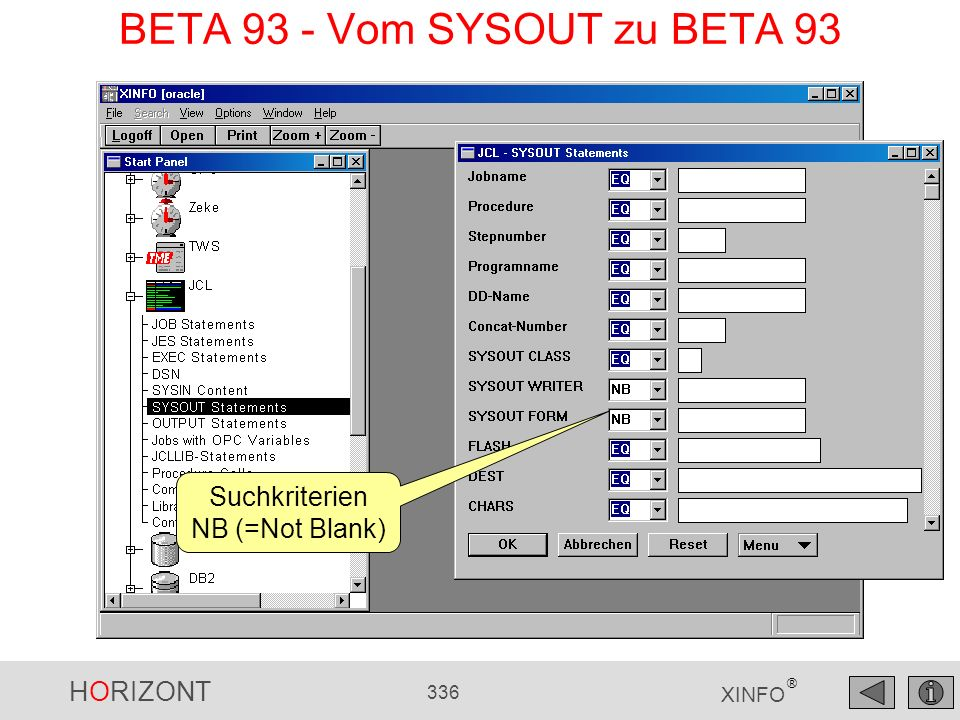 BETA 93 - Vom SYSOUT zu BETA 93