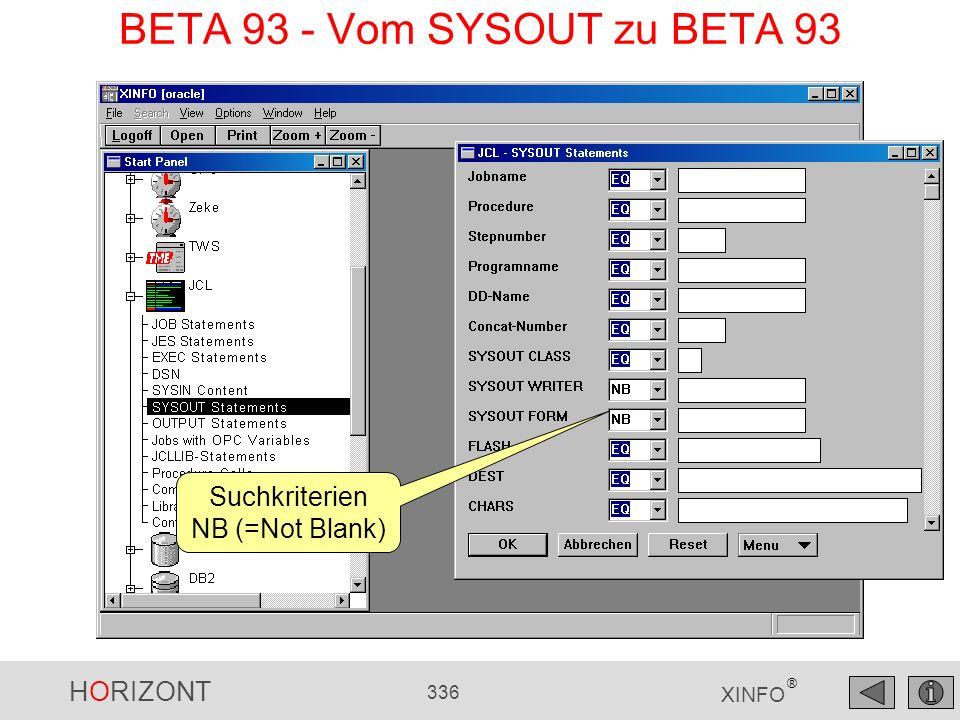 BETA 93 - Vom SYSOUT zu BETA 93