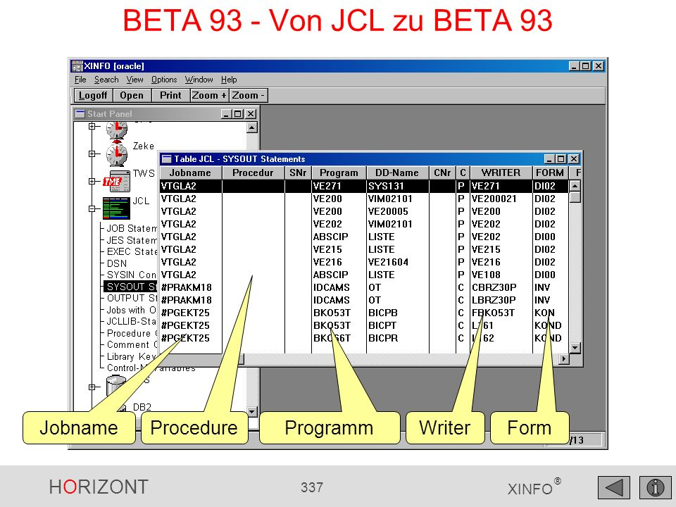 BETA 93 - Von JCL zu BETA 93 Jobname Procedure Programm Writer Form