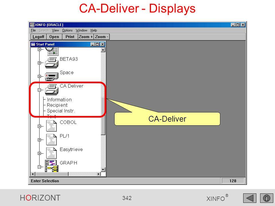 CA-Deliver - Displays CA-Deliver