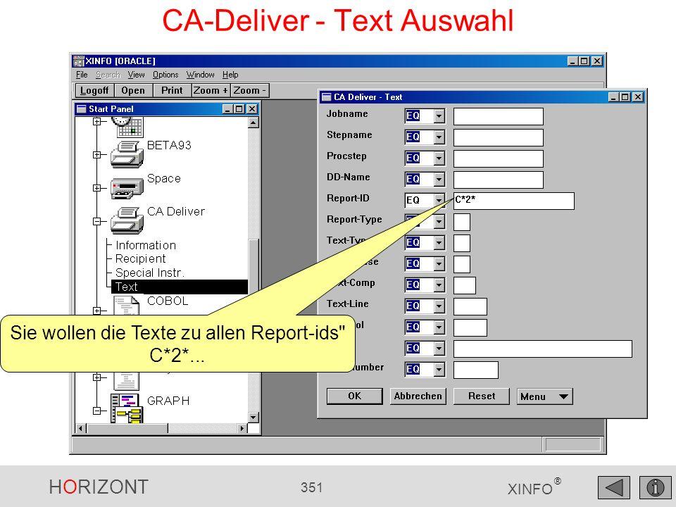 CA-Deliver - Text Auswahl