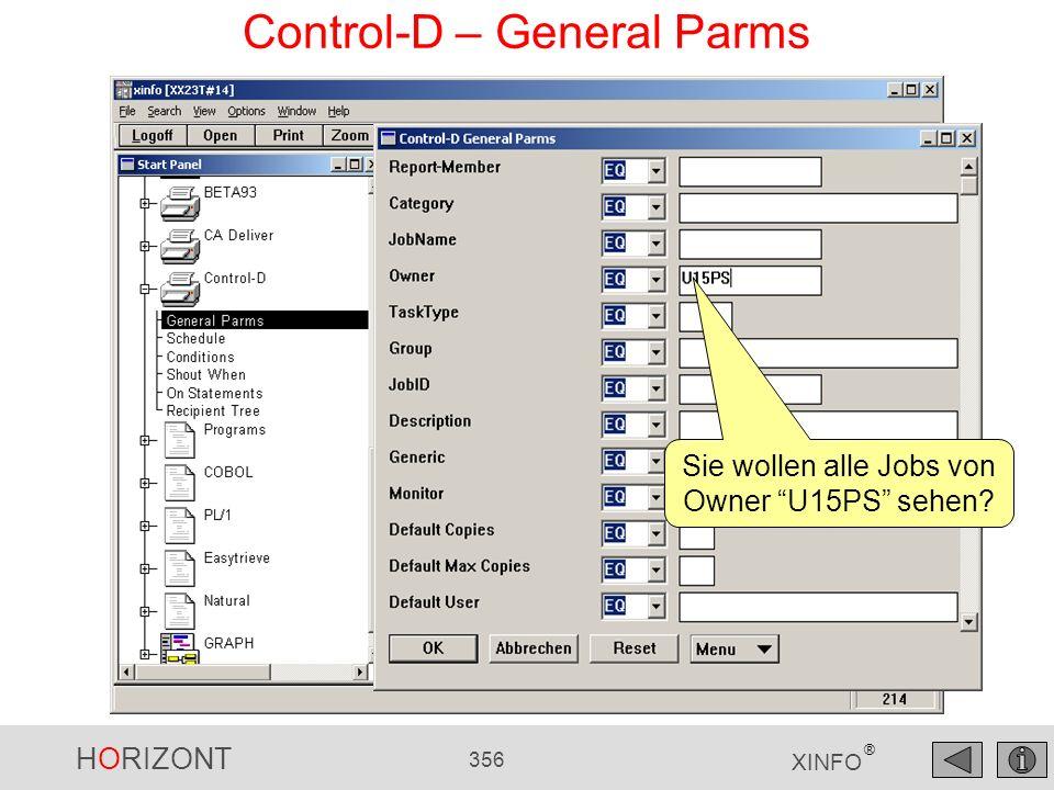 Control-D – General Parms