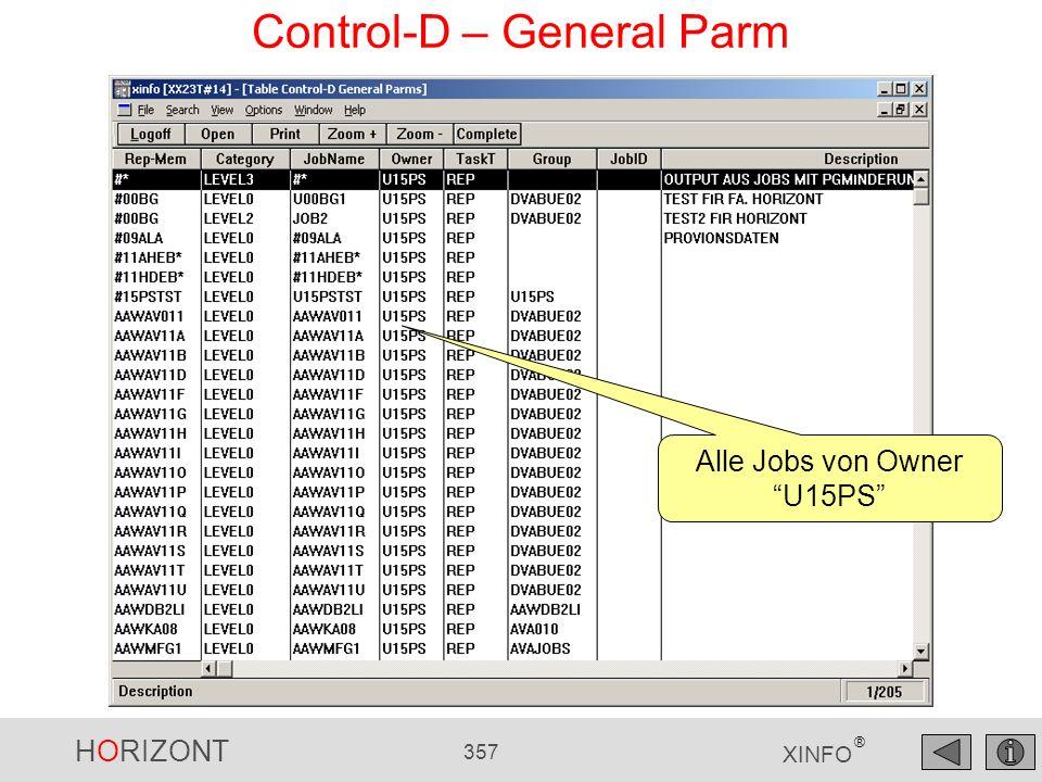 Control-D – General Parm