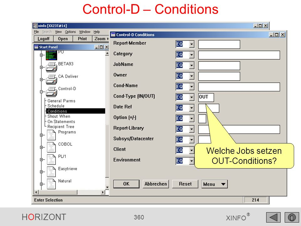Control-D – Conditions