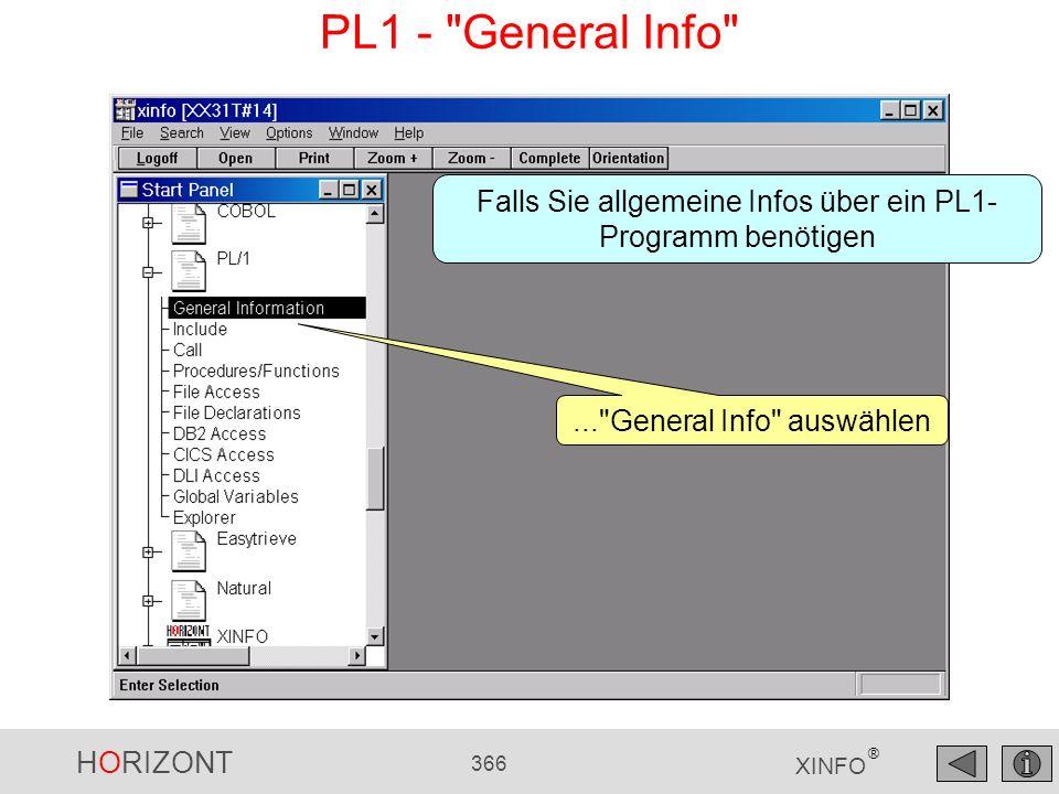 PL1 - General Info Falls Sie allgemeine Infos über ein PL1- Programm benötigen.