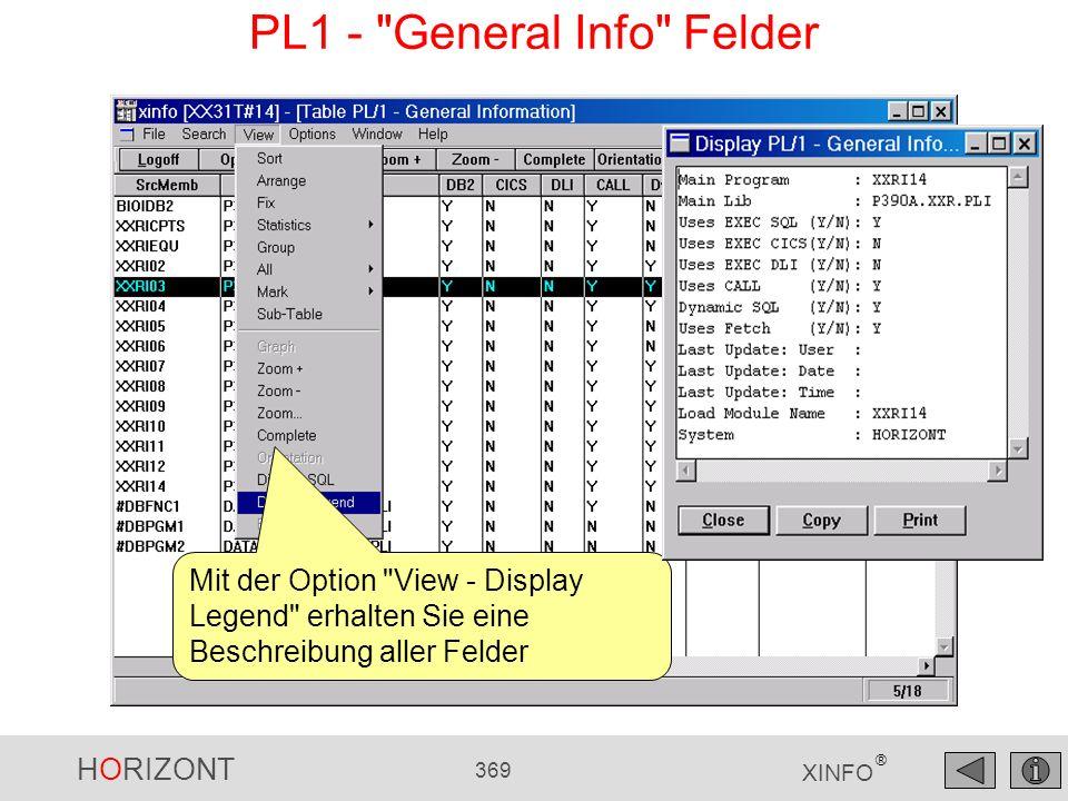 PL1 - General Info Felder
