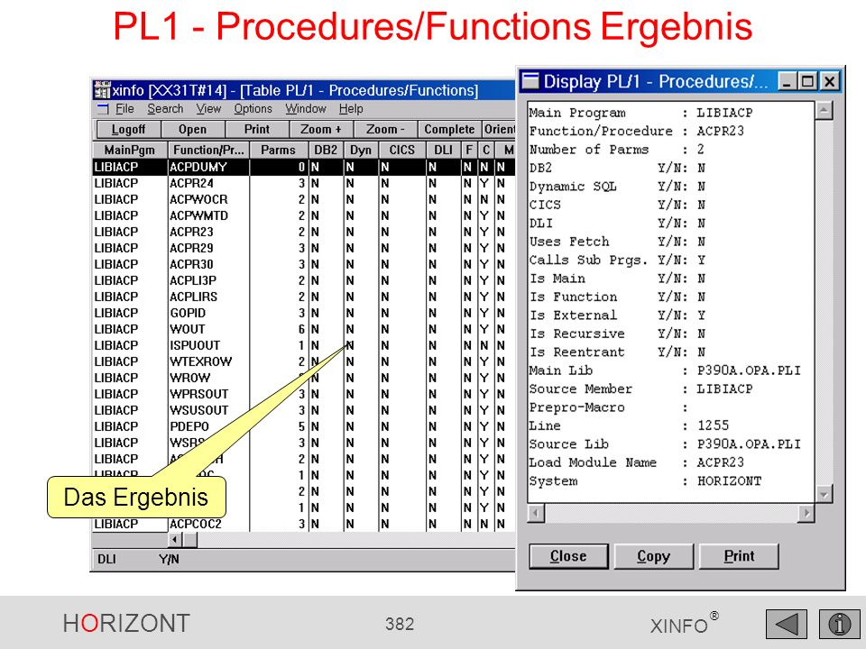 PL1 - Procedures/Functions Ergebnis