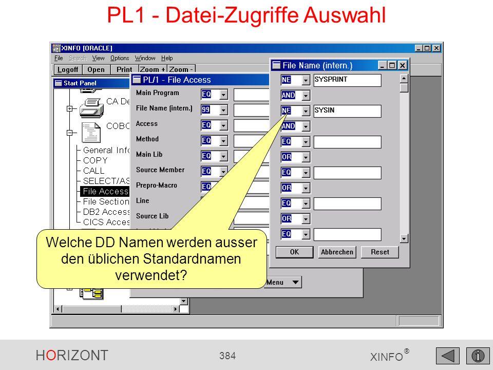 PL1 - Datei-Zugriffe Auswahl