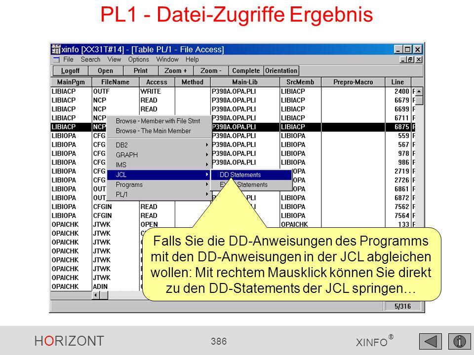 PL1 - Datei-Zugriffe Ergebnis