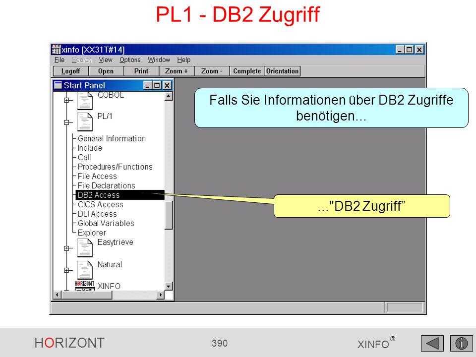 Falls Sie Informationen über DB2 Zugriffe benötigen...