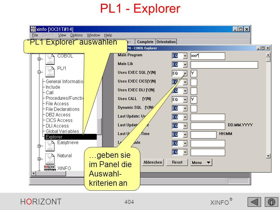 PL1 - Explorer PL1 Explorer auswählen ...
