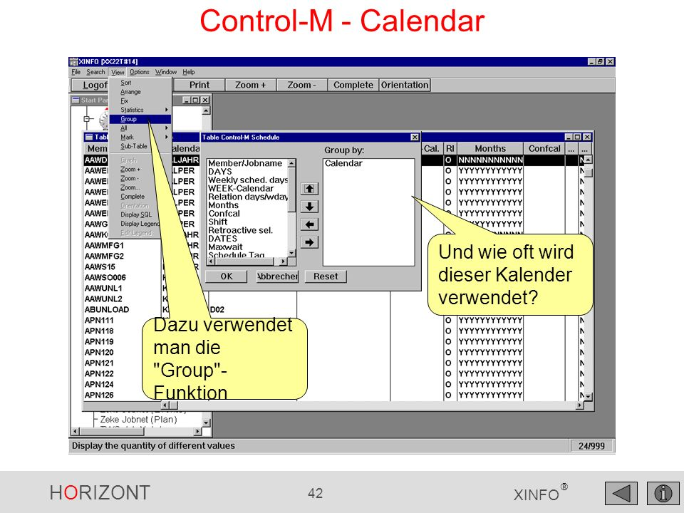 Control-M - Calendar Und wie oft wird dieser Kalender verwendet