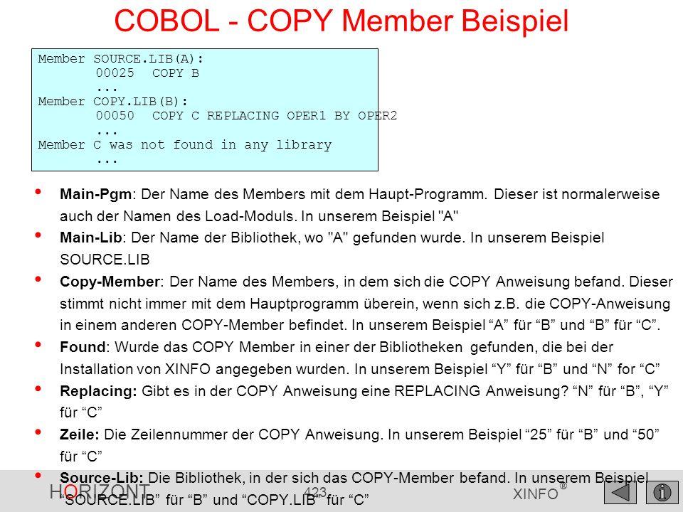 COBOL - COPY Member Beispiel