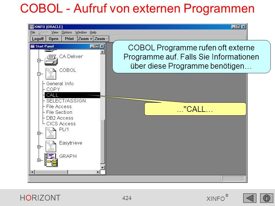 COBOL - Aufruf von externen Programmen