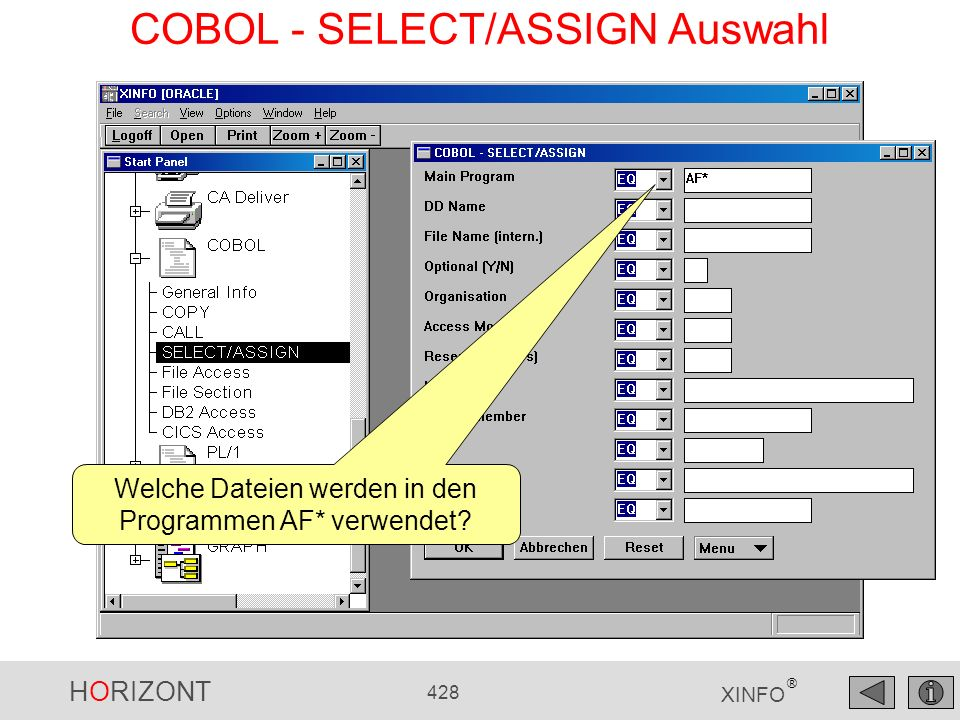COBOL - SELECT/ASSIGN Auswahl