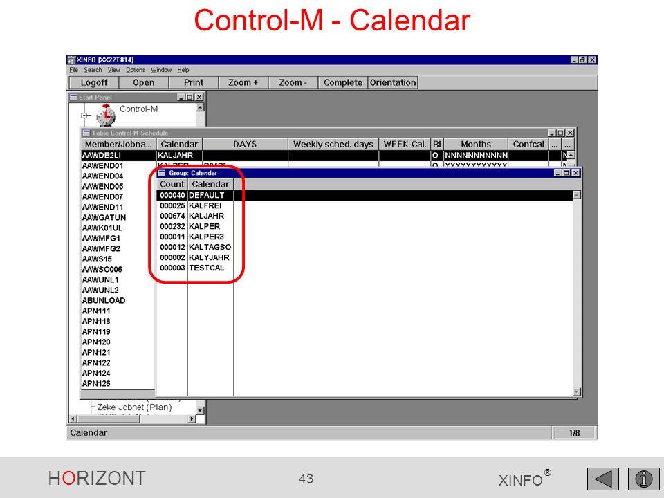 Control-M - Calendar