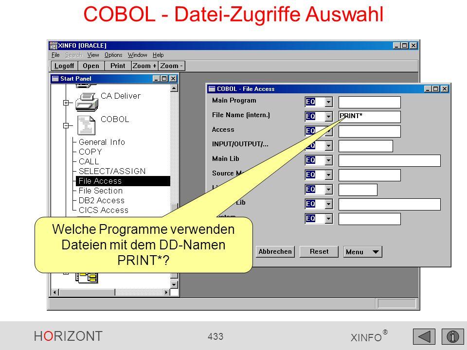 COBOL - Datei-Zugriffe Auswahl