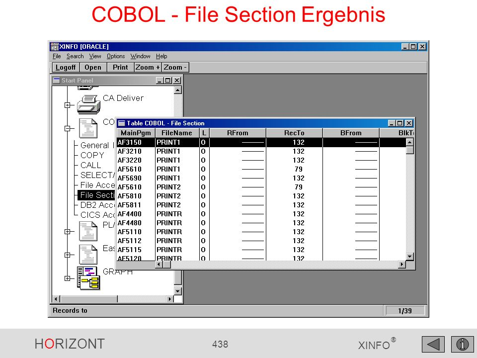 COBOL - File Section Ergebnis