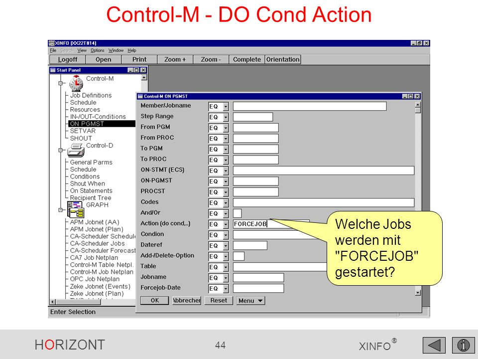 Control-M - DO Cond Action