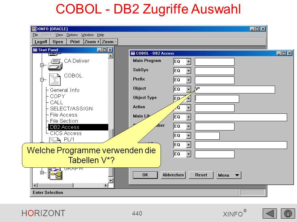 COBOL - DB2 Zugriffe Auswahl