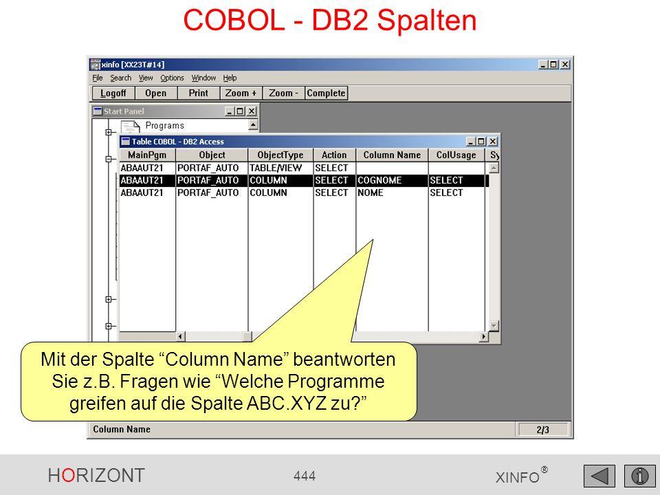 COBOL - DB2 Spalten Mit der Spalte Column Name beantworten Sie z.B.