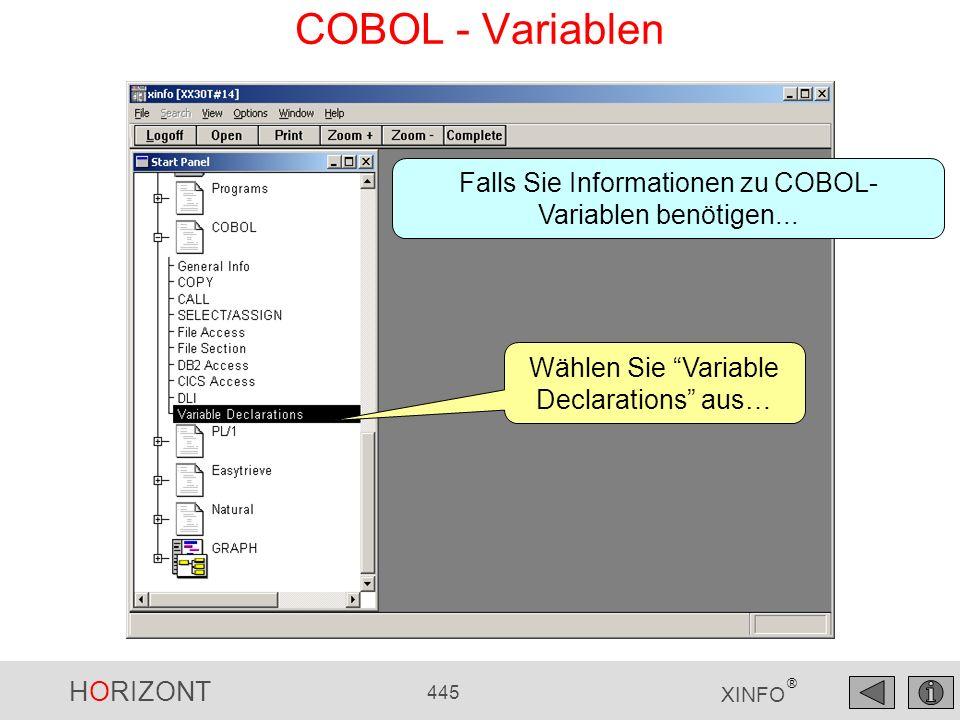 COBOL - Variablen Falls Sie Informationen zu COBOL-Variablen benötigen...